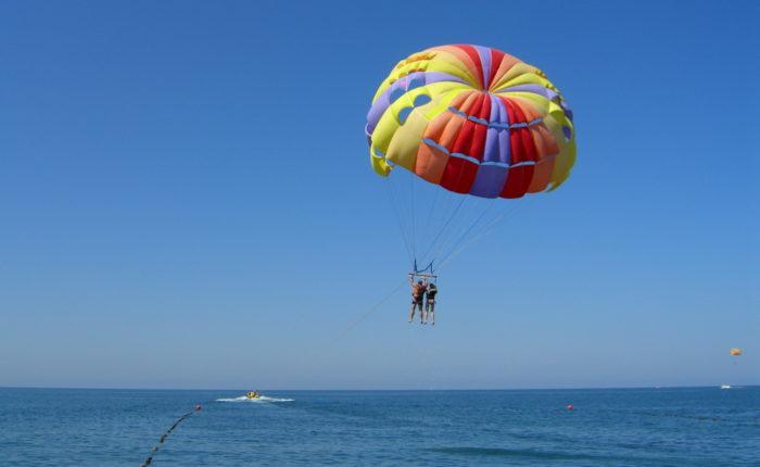 Полёт на парашюте в Геленджике